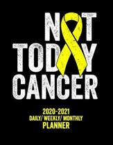 Not Today Cancer: 2020 -2021 Daily/ Weekly/ Monthly Planner: Sarcoma Bone Cancer Awareness: 2-Year Personal Planner with Grid Calendar Y