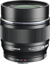 Olympus M.ZUIKO Digital - Lens - ED 75 mm 1.1.8 - Zwart