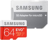 Samsung Evo+ 64 GB Micro SD class 10 met adapter