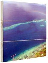 FotoCadeau.nl - Rainbow Reef Oceanie Hout 80x60 cm - Foto print op Hout (Wanddecoratie)