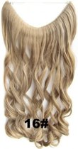 Wire hairextensions wavy blond - 16#