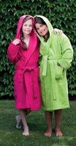 Kinderbadjas met Capuchon Uni Pure 4 Jaar Groen col 2612