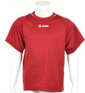 Jako Shirt Fire KM - Sportshirt - Kinderen - Maat 164 - Donker Rood