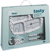 Done by Deer Dinner set Happy Dots Blue (eetset voor kinderen)