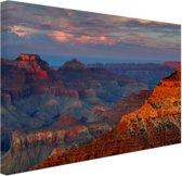 Mather Point zonsondergang Grand Canyon Canvas 80x60 cm - Foto print op Canvas schilderij (Wanddecoratie)