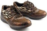 Gabor Rollingsoft Dames Lage sneakers - bruin - Maat 38
