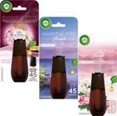 Air Wick Essential Mist Aroma Navulling 3 x 20 ml - Gemixte Voordeelverpakking