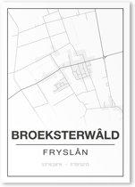 Poster/plattegrond BROEKSTERWALD - A4