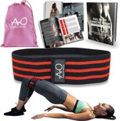 Weerstandsbanden - Bootybands - Fitnessband - Fitness Elastiek - Inclusief Workout E-book en Draagtas – Resistance Band Rood (Large)