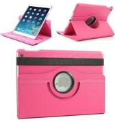 Donkerroze lederen 360 graden smartcover hoes iPad Air