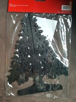 Dobbies Christmas 25cm Cut Out Tree Zwart