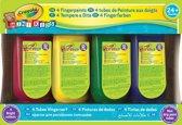 Crayola Mini Kids Vingerverf - 4 Tubes
