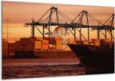 Canvas schilderij Boot | Bruin, Zwart | 120x70cm 1Luik