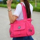 Vrijetijds mode Nylon waterdichte Slant Schoudertas (Rose-rood)