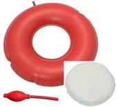 Ringkussen opblaasbaar 45 cm Ø - inclusief disposable hoes en pompje