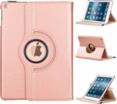 Ntech Apple iPad 9.7 (2017 / 2018) hoesje Case Cover 360° draaibaar Multi stand Rose Gold
