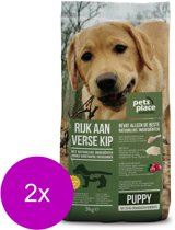 Pets Place Naturals Puppy  Small Breed Kip - Hondenvoer - 2 x 3 kg