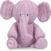 Jollein Cable - Knuffel Olifant - Roze