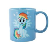 Blauwe My Little Pony mok/drinkbeker Rainbow Dash 320 ml