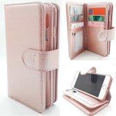 Samsung Note 8 - Rose Gold - Pasjeshouder - Telefoonhoesje met extra flap voor 9 pasjes