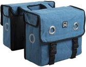 Willex Dubbele canvas tas 40 liter Storm Blauw