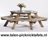 Van Talen - Picknicktafel zeshoek - Vuren - 225 cm