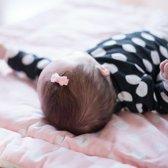 Setje van twee lichtroze baby haarspeldjes met strik
