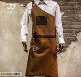 The Butcher | lederen schort | Cognac