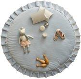 Speelmat / Speelkleed Kinderkamer Velvet Lichtblauw - Vloerkleed 120 cm doorsnede