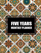 Five Year Monthly Planner: Colorful Mandala Book, 5 Years Calendar Planner, Monthly Calendar Schedule Organizer (60 Months Calendar Planner)
