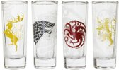 Game of Thrones Houses Set of 4 Shot Glasses 100ml