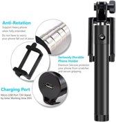 Mini Foldable  Selfie Stick met knop in het handvat voor uw Samsung Galaxy S6, Bluetooth Afstandsbediening,