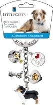 Little Gifts sleutelhanger Australian Shepherd / Australische Berghond gekleurd