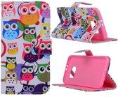 Multi owls wallet hoesje Samsung Galaxy S6