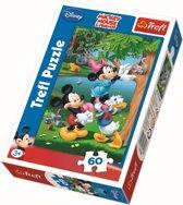 Mickey en zijn vrienden, 60 stukjes Puzzel