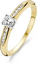 Blush Ring 1155BZI -  Geel en Wit Goud (14Krt.) met Zirconia