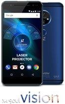 "Allview X4 Soul Vision - 5,5"" 4G smartphone 3GB+32GB 13Mpix AF, met beamer projectie functie 720p projector - blauw"