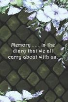 Memory . . . is the diary that we all carry about with us.: Dot Grid Paper