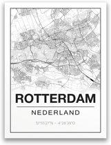 Poster/plattegrond ROTTERDAM - A4