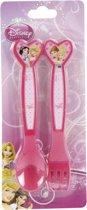 Bestek Disney Princess Plastic - Leper en vork - 2-delig
