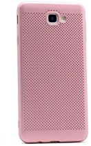 Teleplus Samsung Galaxy A3 2017 Perforated Cover Case Rose Gold hoesje