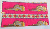 Roze Afrikaanse stof met mooie patroon (VBL09)