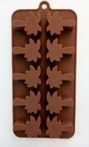 ijsklontjes -fondant-chocolade vorm PALMBOOM