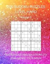 200 Sudoku Puzzles Level Hard Volume 5