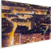 Verlichting in de straten van Lyon in Frankrijk Plexiglas 90x60 cm - Foto print op Glas (Plexiglas wanddecoratie)