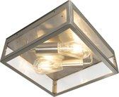 QAZQA Rotterdam - Plafondlamp - 2 lichts - H 280 mm - Staal