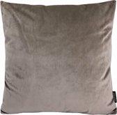 Velvet Taupe Kussenhoes | Fluweel - Polyester | 45 x 45 cm | Taupe - Bruin