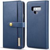 Samsung Galaxy Note 9 Leren 2-in-1 Bookcase en Back Cover Hoesje Blauw