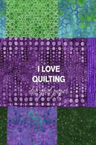 I Love Quilting Dot Grid Paper