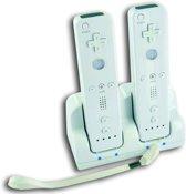 Bigben Dubbel Docking Station - Wit / Zwart (Wii + Wii U)
